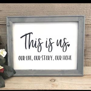This is us rustic sign💜